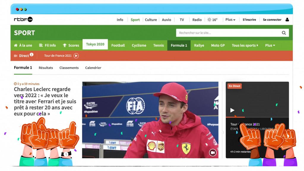 RTBF zendt gratis Formule 1 uit