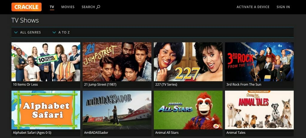 Offerta Serie TV su Crackle