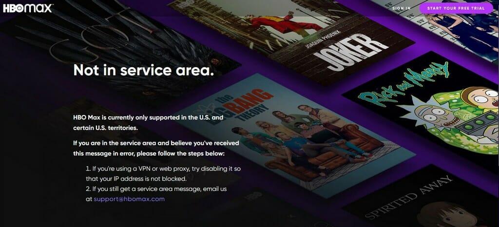 HBO Max in Deutschland nicht verfügbar