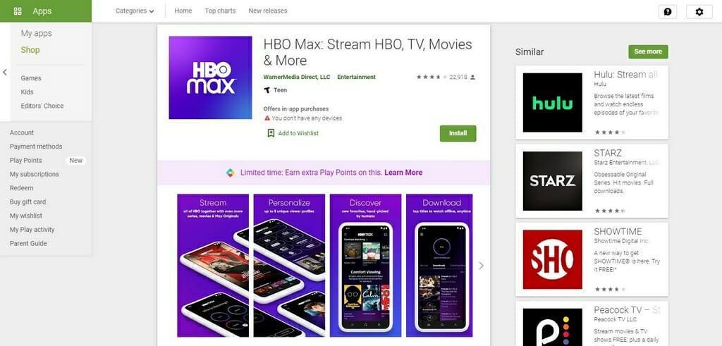 HBO Max App herunterladen