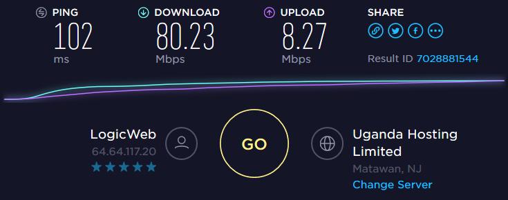 ExpressVPN Speedtest US server