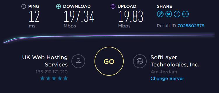 NORD Speedtest local server