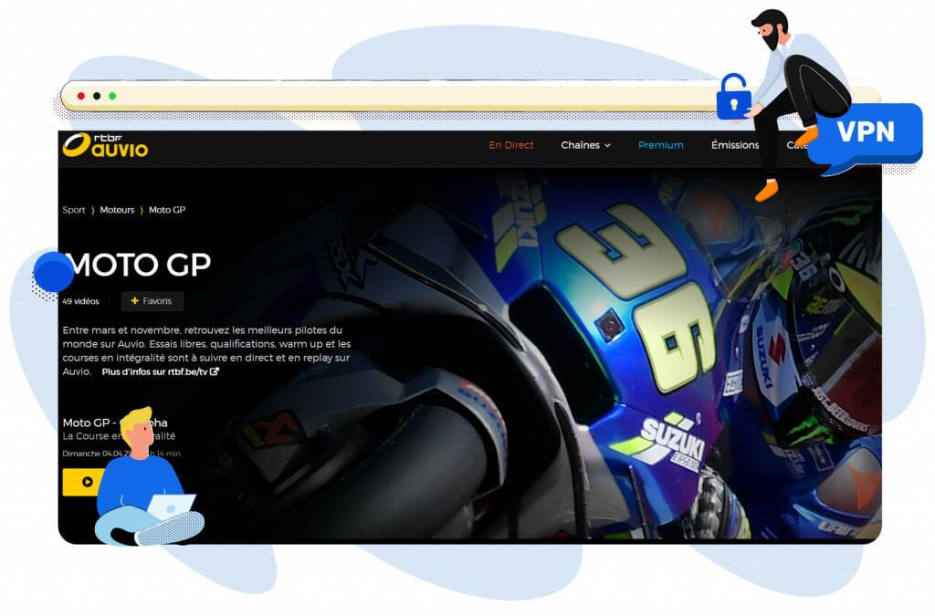 MotoGP streamen op RTBF België