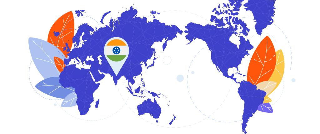 Gebruik een VPN met servers in India