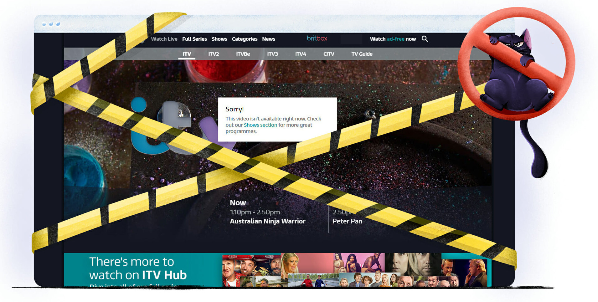 Brytyjska stacja ITV Hub niedostępna w Polsce