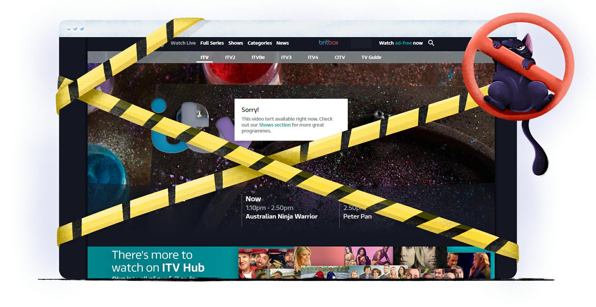 Britse ITV Hub is niet beschikbaar in Nederland