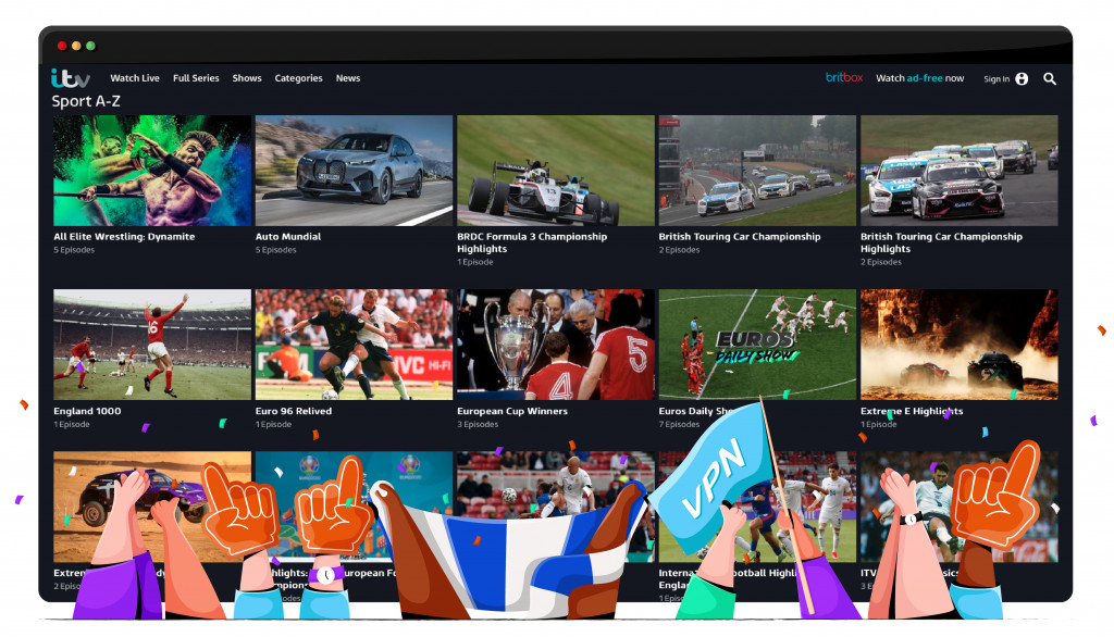 ITV HUB is streaming diverse sports broadcasts for free