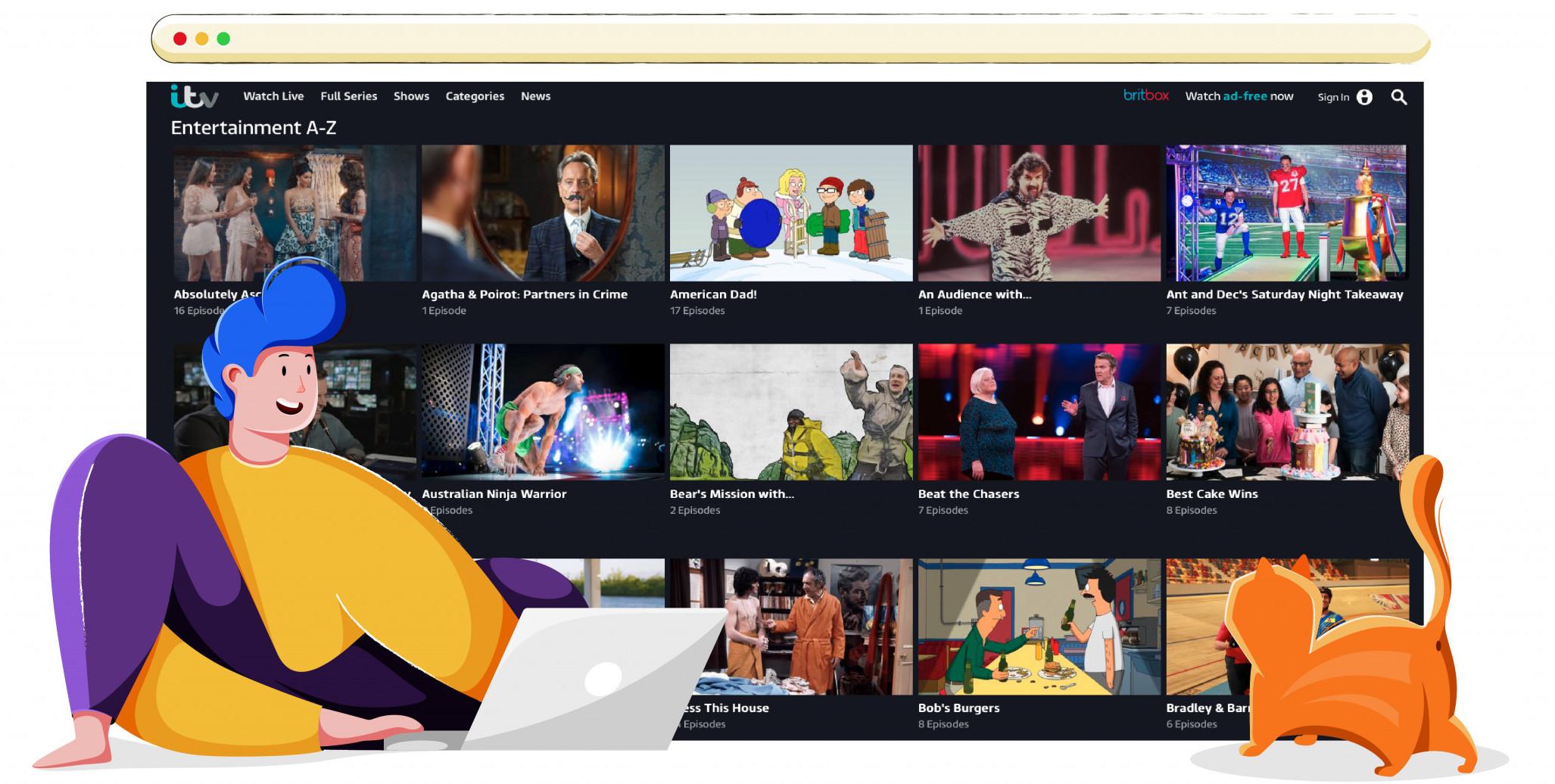 Programy na wyłączność w ITV Hub