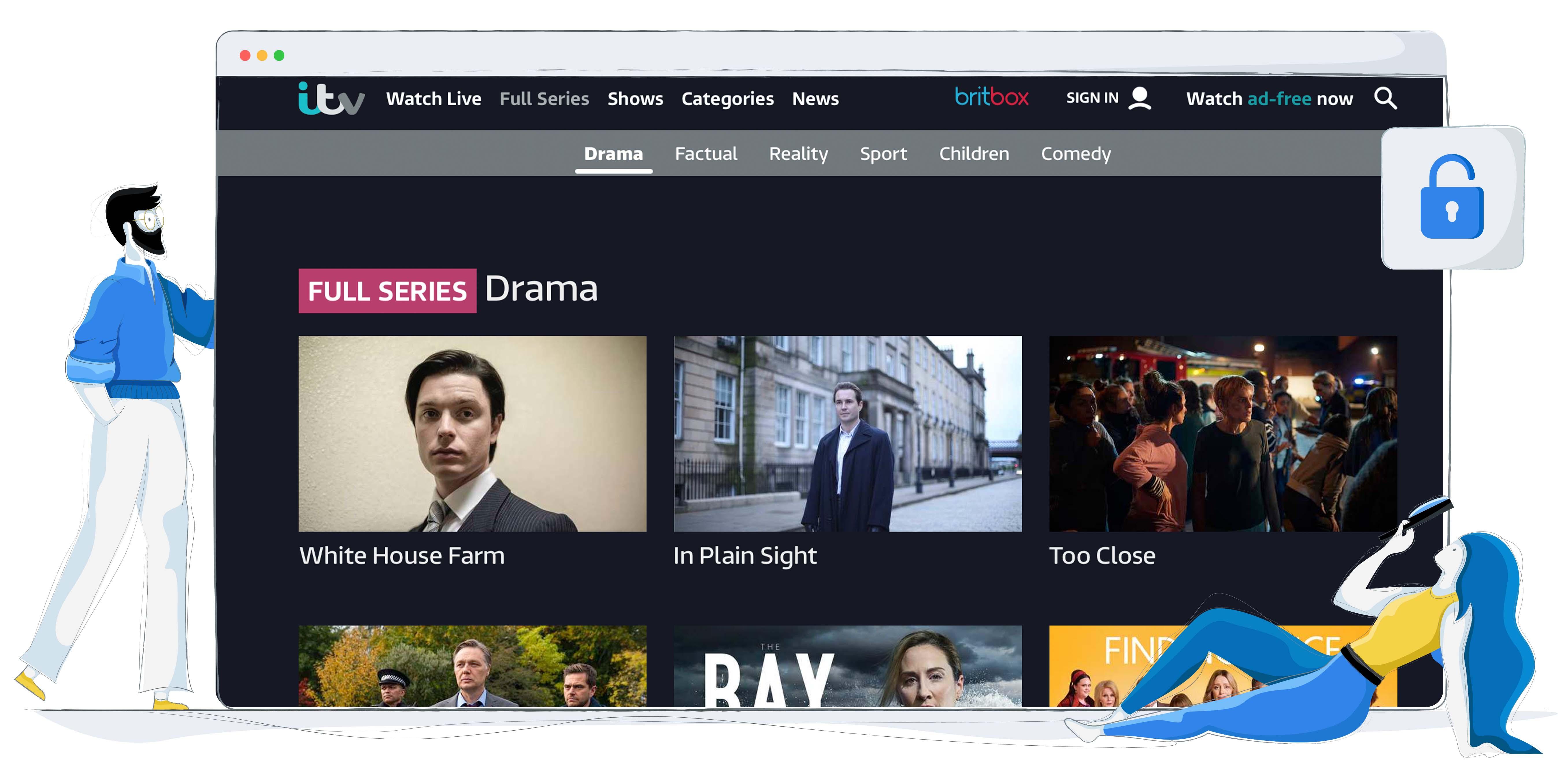 Oglądaj ITV Hub z Polski za pomocą VPN