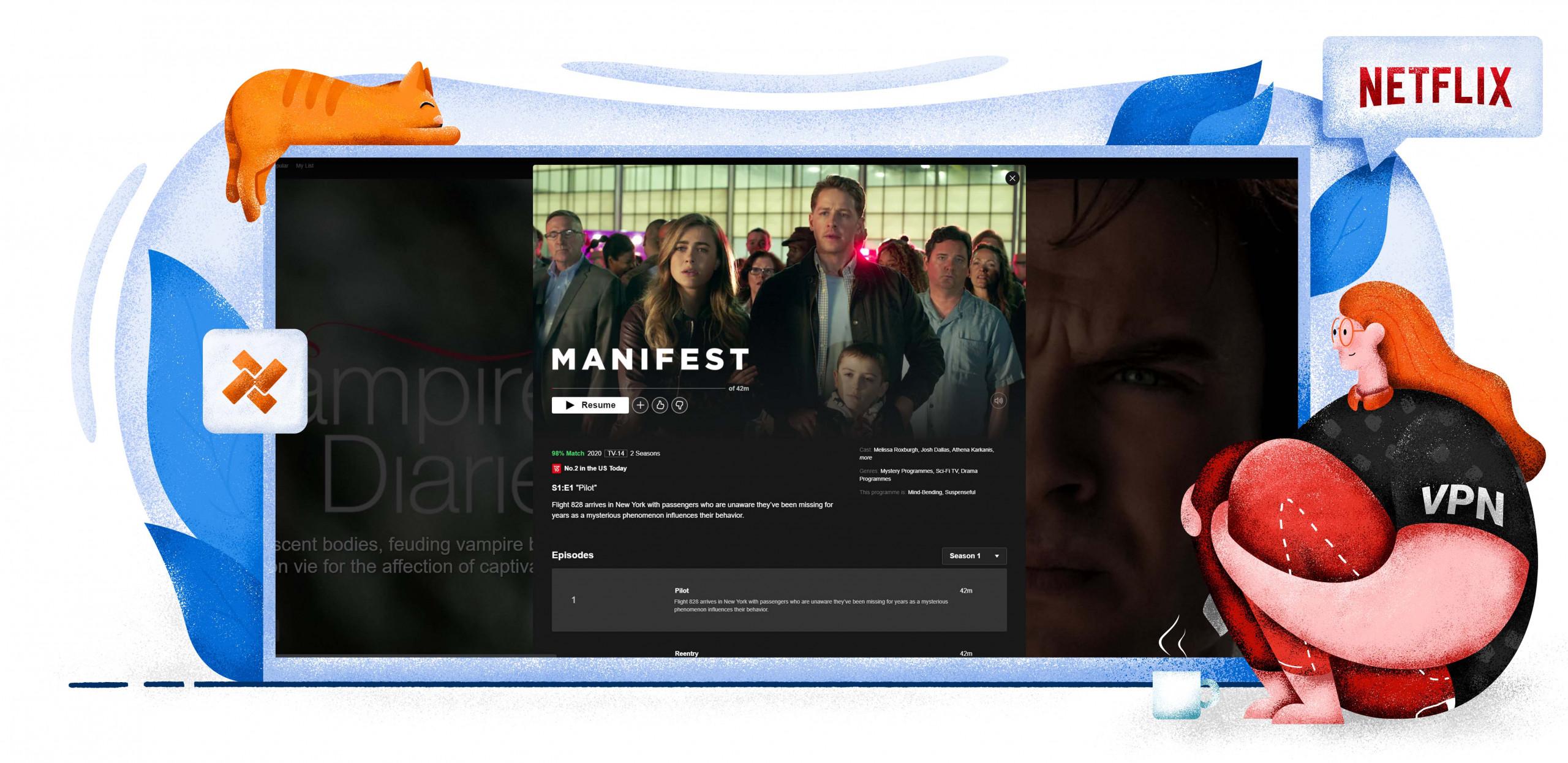 Manifest is op Netflix met VPN Nederland bereikbaar