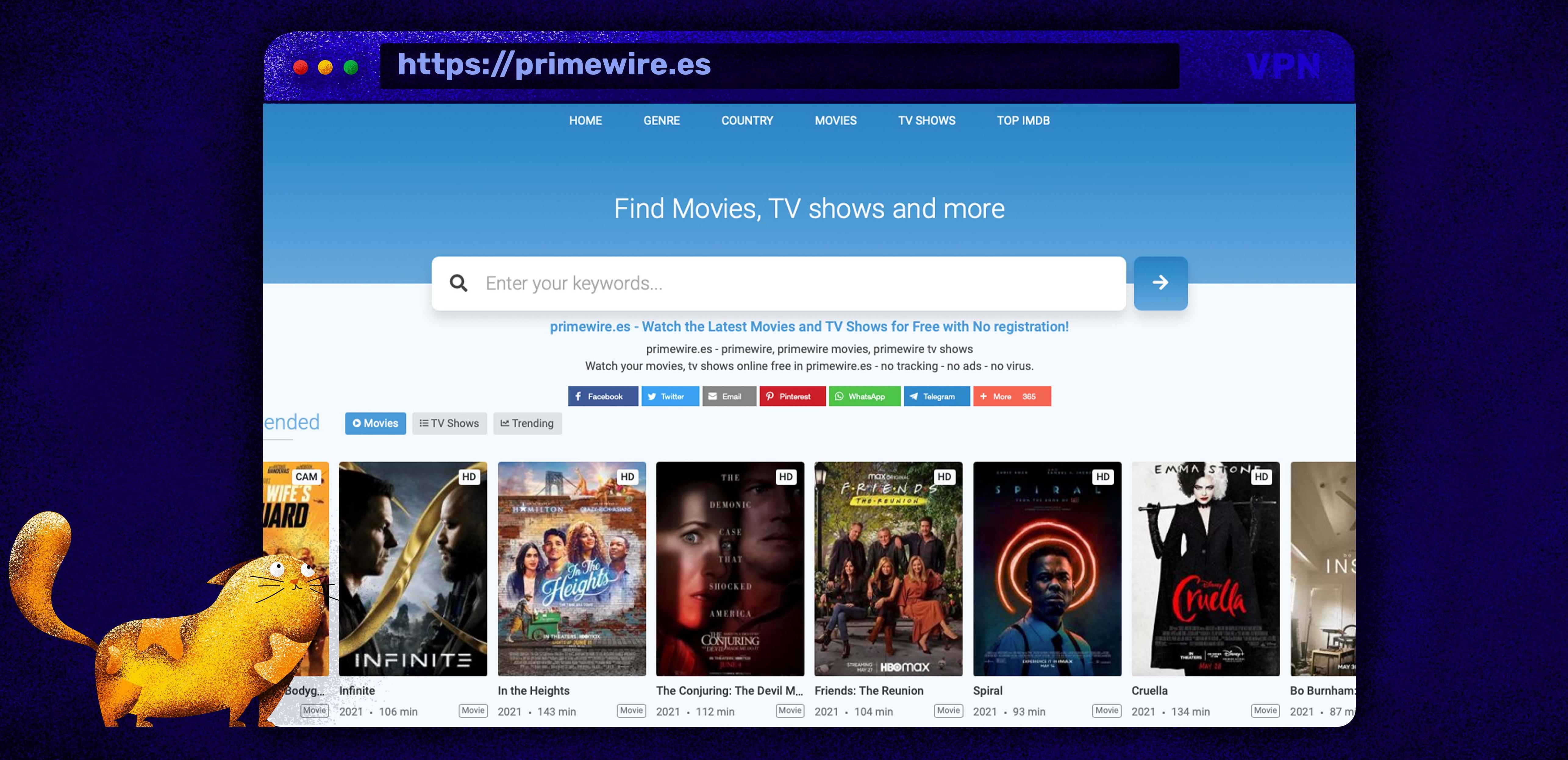 Nutzen Sie Primewire als Putlocker-Alternative zum Streamen von Filmen und TV-Sendungen