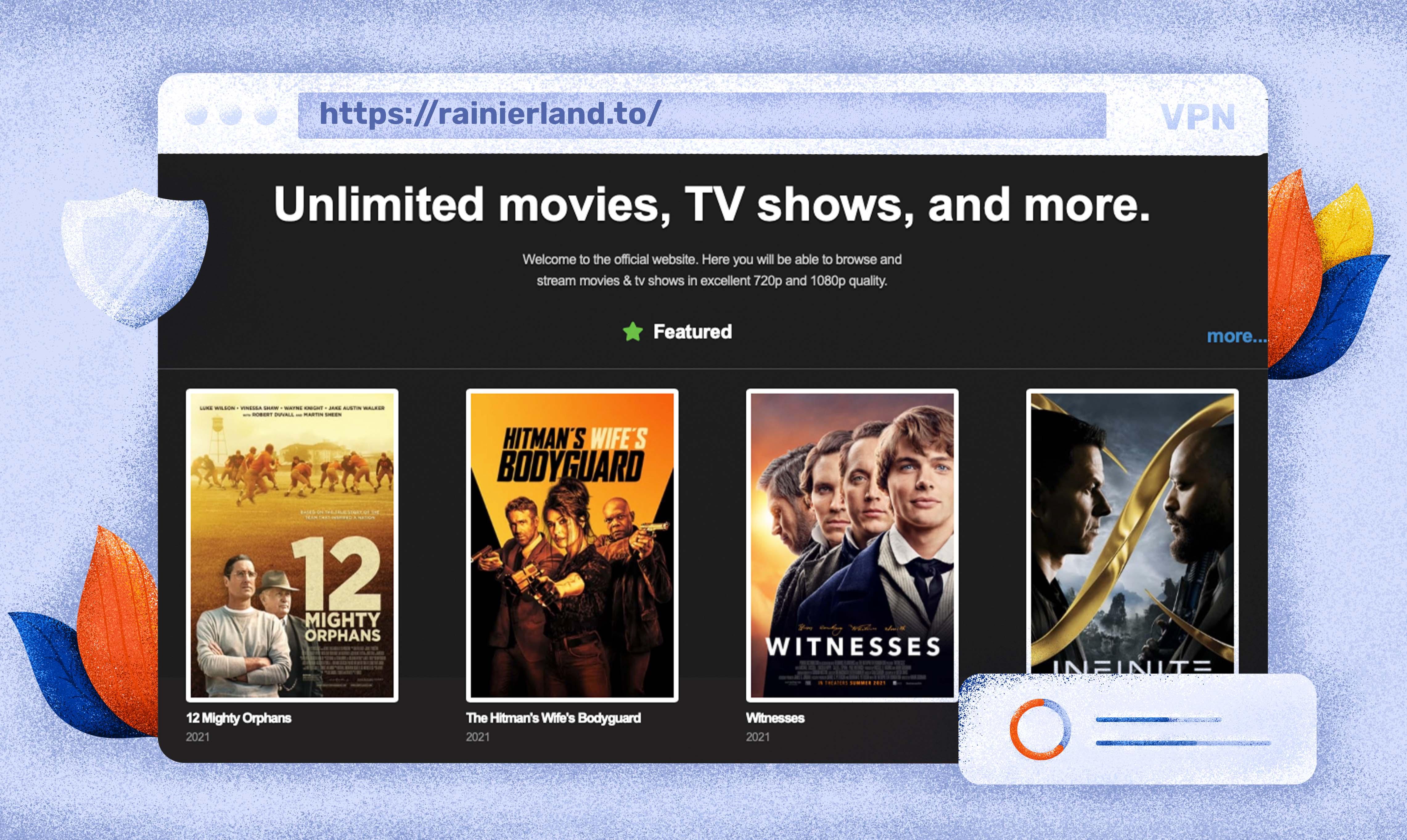 Użyj Rainierland jako alternatywy putlocker dla streamingu filmów i seriali.