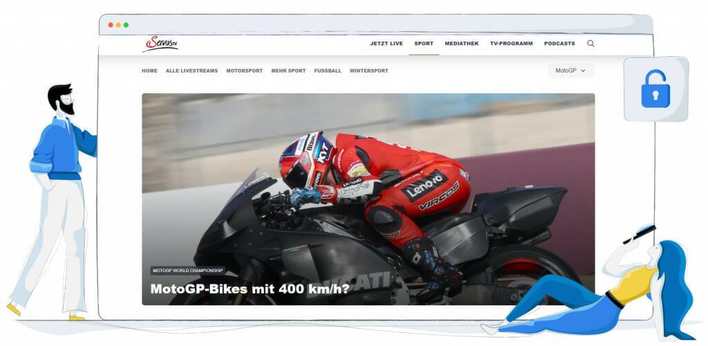 Streaming MotoGP w Servus TV w Niemczech i Austrii