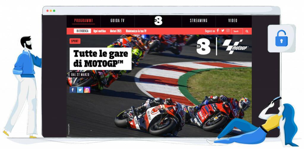 Streaming MotoGP na TV8 Włochy