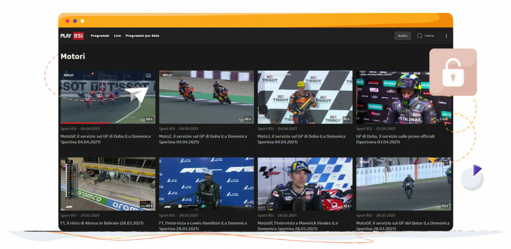 Streaming MotoGP na SRG SSR Szwajcaria