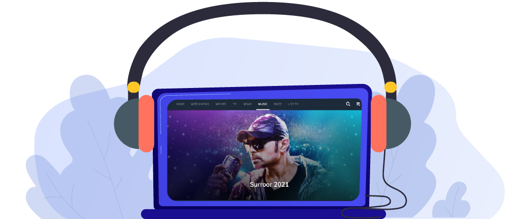 MX Player streaming different genres of music