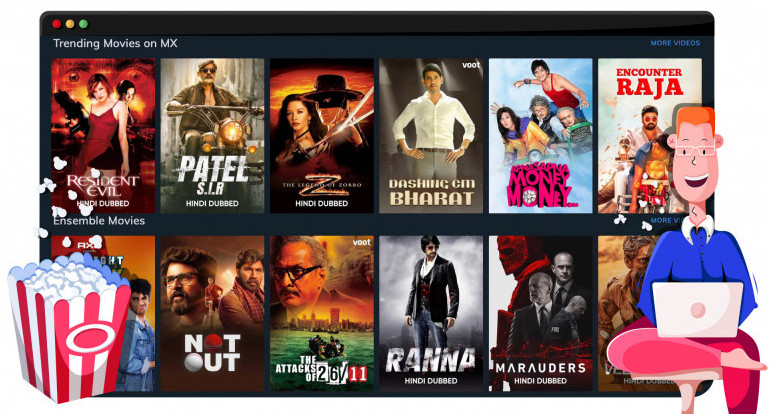 MX Player streaming Hollywood and Bollywood movies