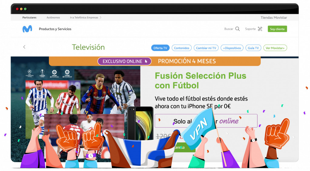 Movistar in Spain streaming the NFL