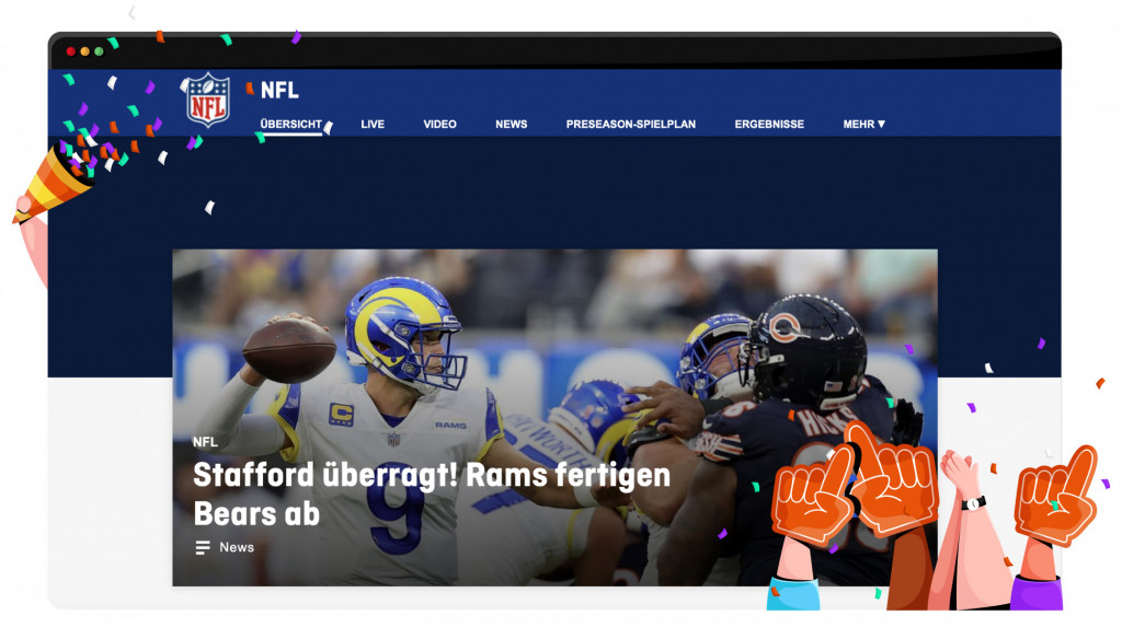 Ran streaming the NFL in Germany
