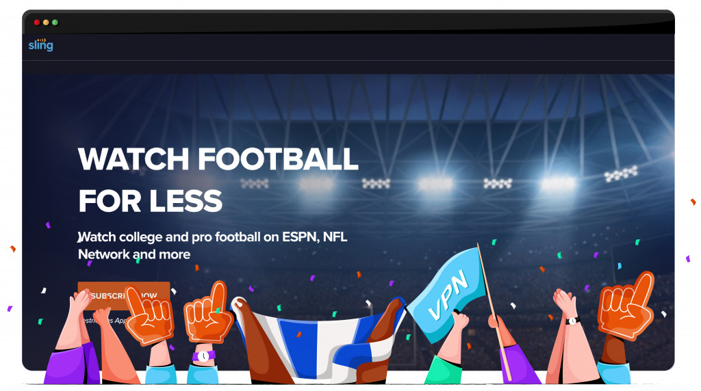 Sling TV streaming the NFL from the United States