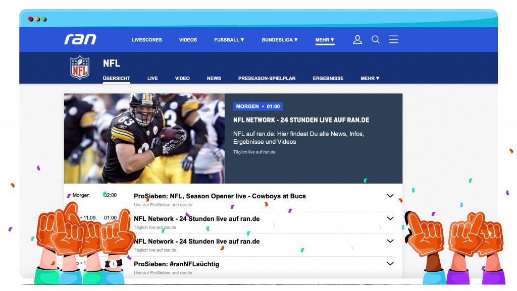 Ran.de, NFL'yi ABD'den yayınlıyor