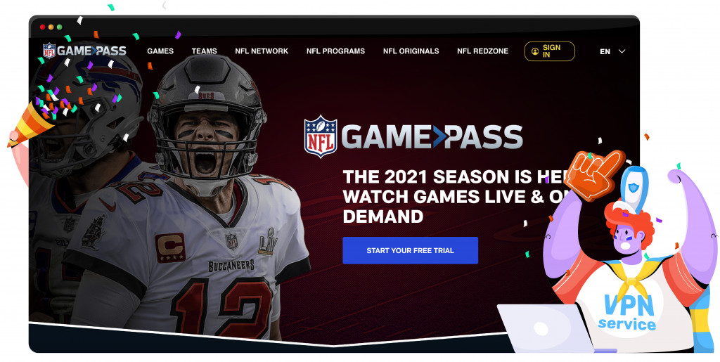 Watch the NFL games with NFL Game Pass