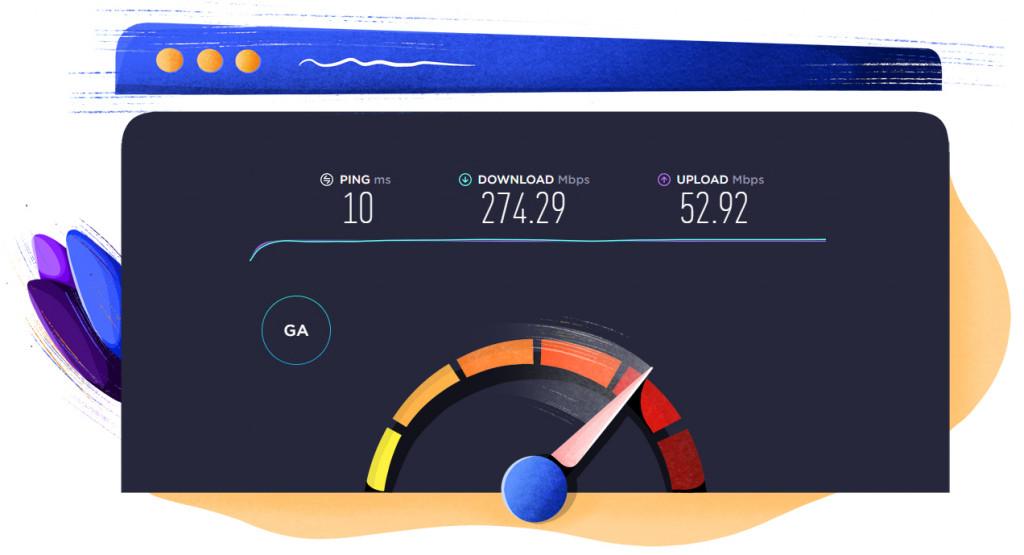 NoLagVPN South Africa location speed test