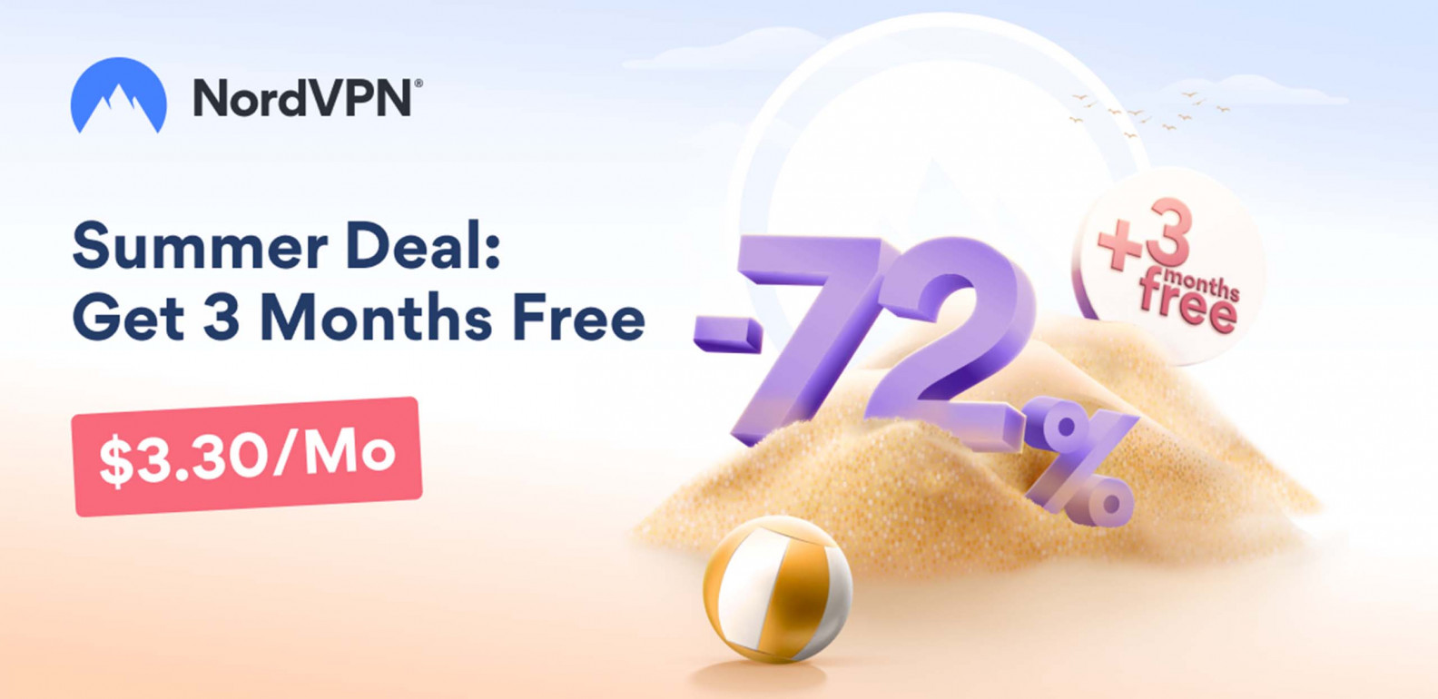 Get 72% off a 2-year plan with NordVPN