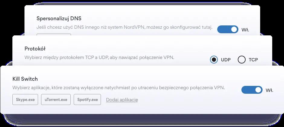 Funkcje bezpieczeństwa NordVPN