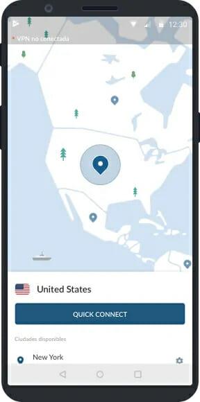 NordVPN Android alkalmazás
