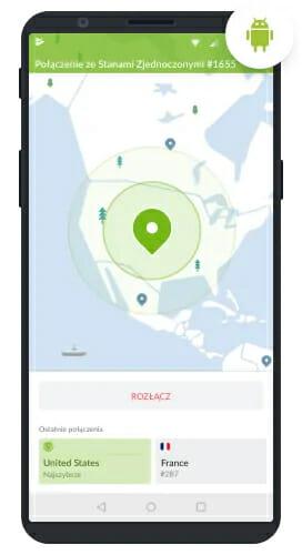 Aplikacja NordVPN na Androida