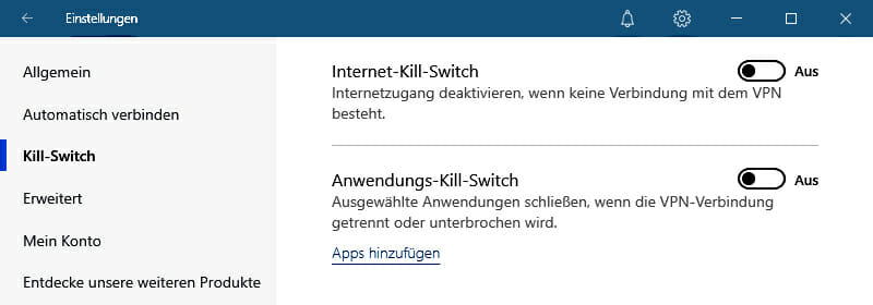 NordVPN Kill-Switch Funktion