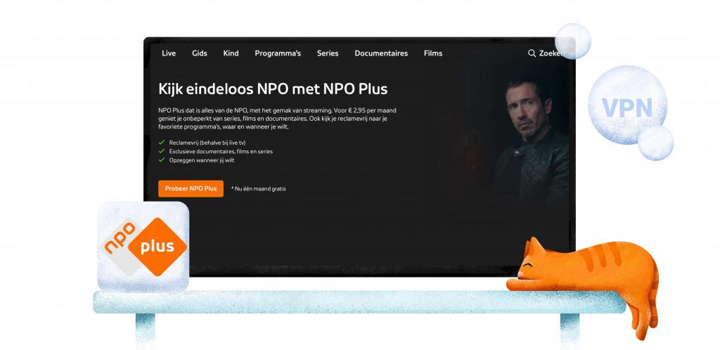 NPO Plus in het buitenland kijken