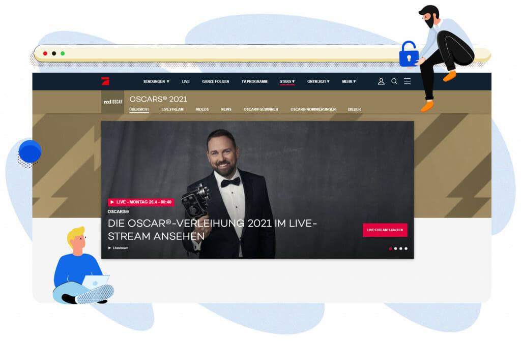 Die Oscars streamen auf ProSieben