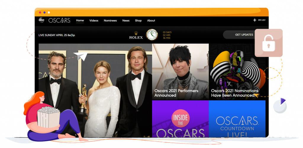 The Oscars streaming on ABC