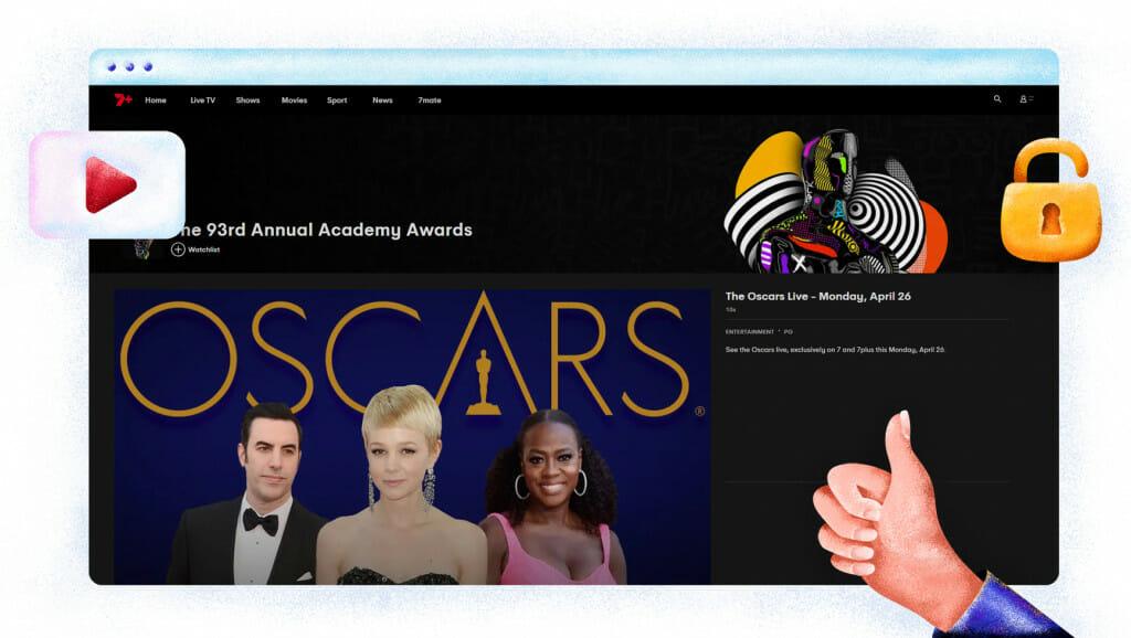 Oscars streaming on 7Plus Australia