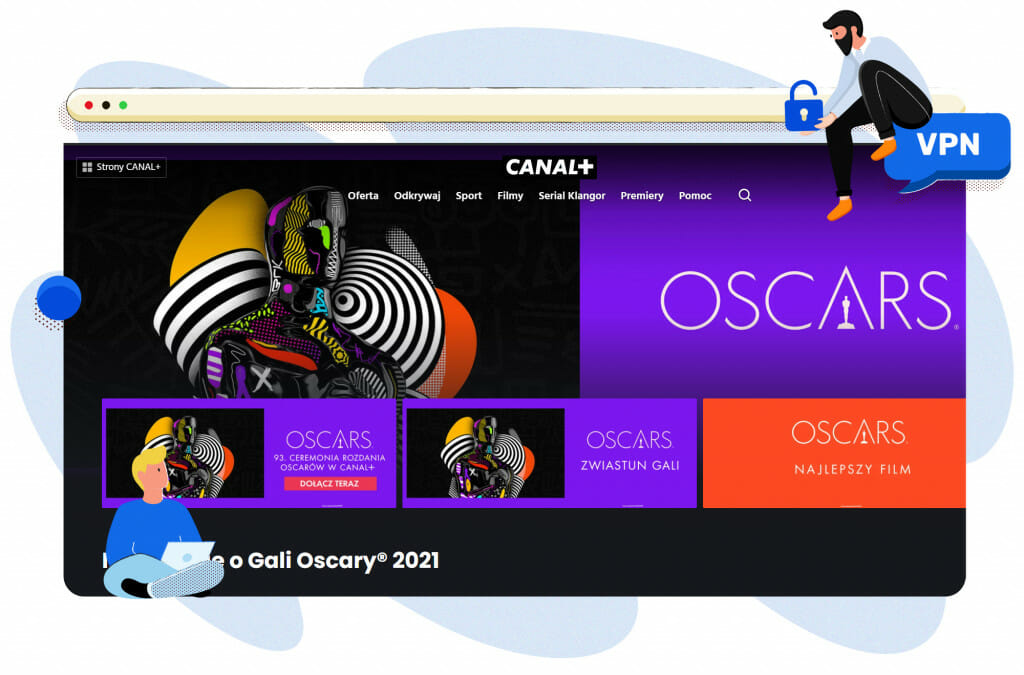 Oscary transmitowane na Canal+