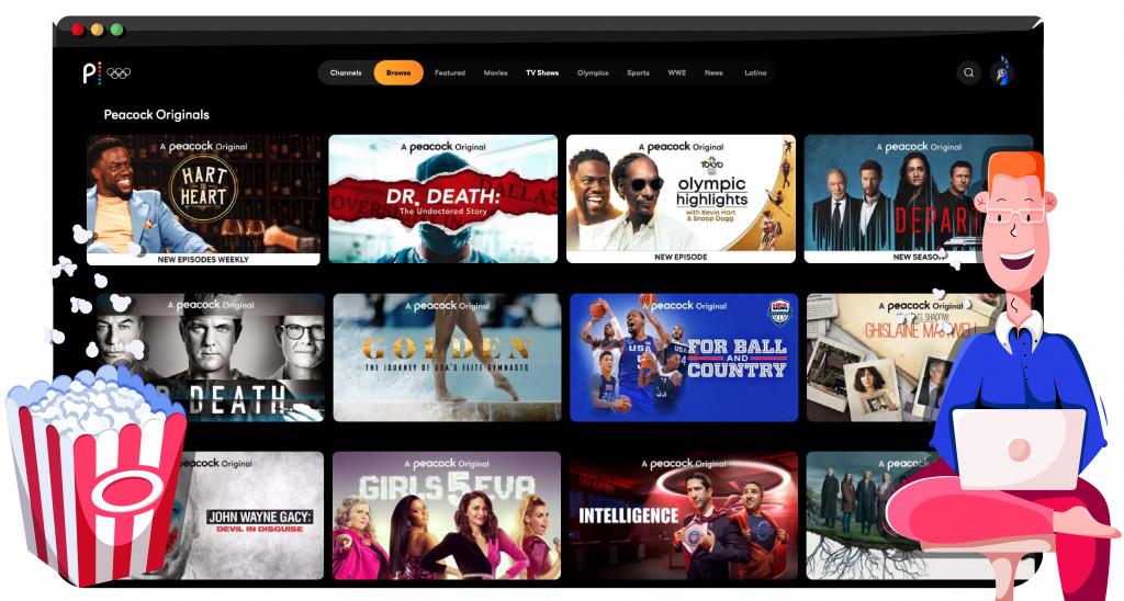 Peacock TV gratis streamingdienst in Amerika