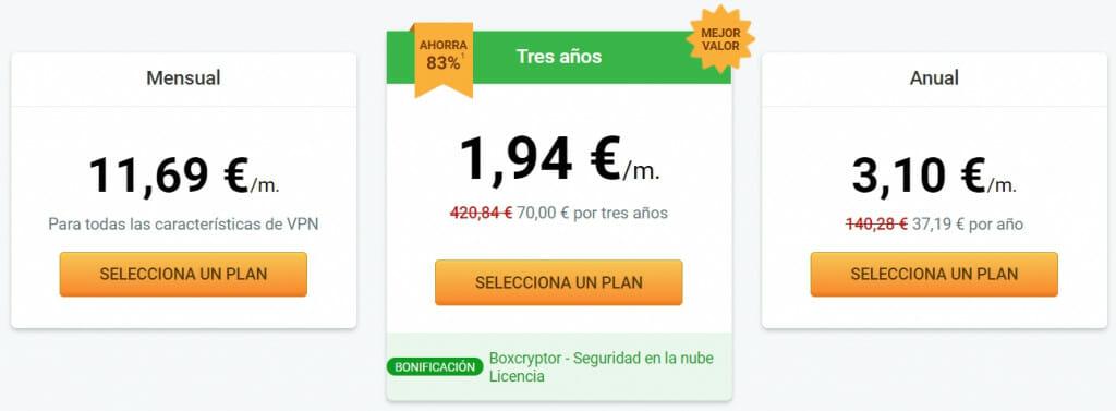 Precios Private Internet Access