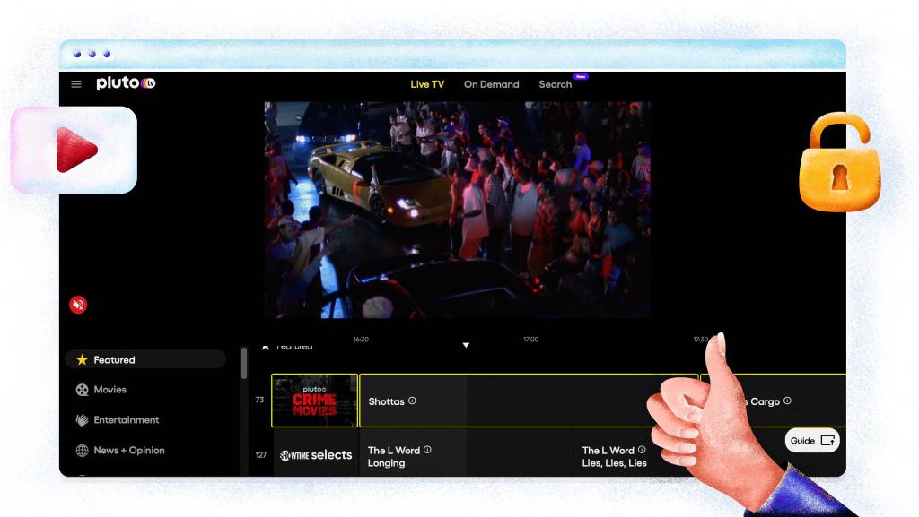 Pluto TV gratis streamingdienst