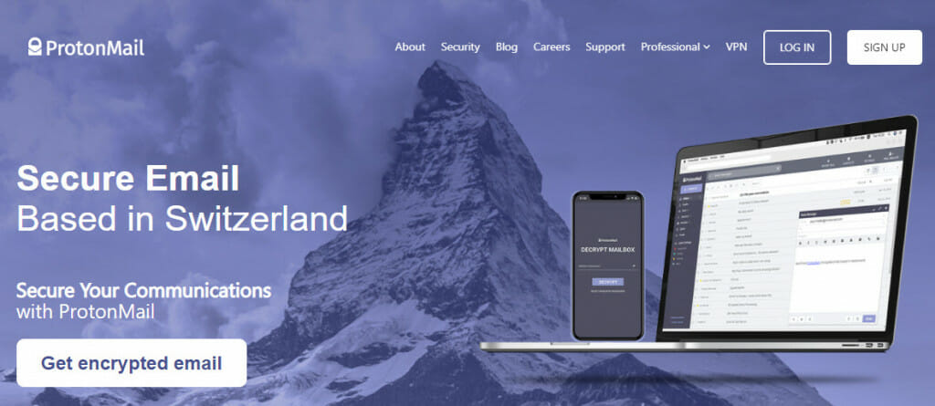 ProtonMail secure email service