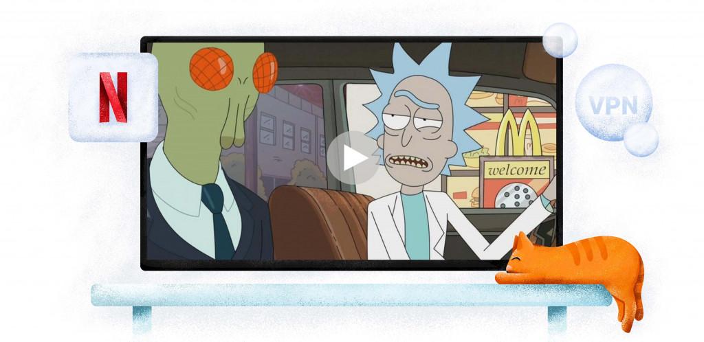 Rick and Morty at McDonald's