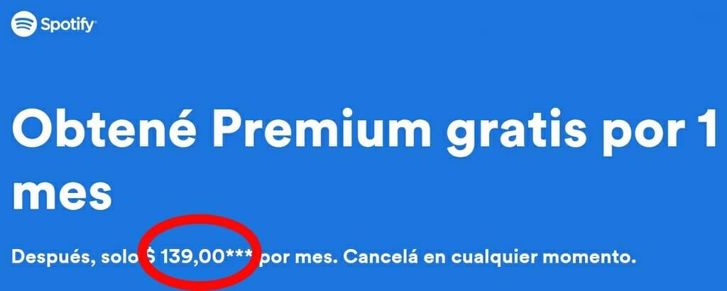 Abbonamento Spotify premium più economico in Argentina