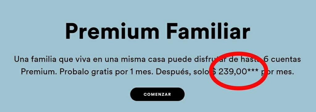 Sottoscrizione a lungo termine a Premium Family