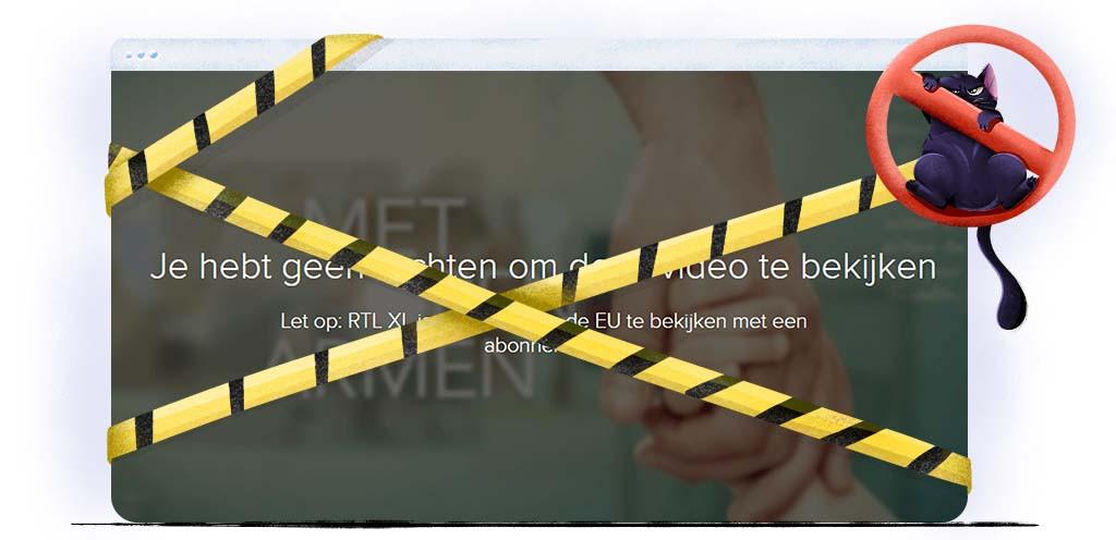 Niet alle RTL XL programma's zijn beschikbaar buiten Nederland