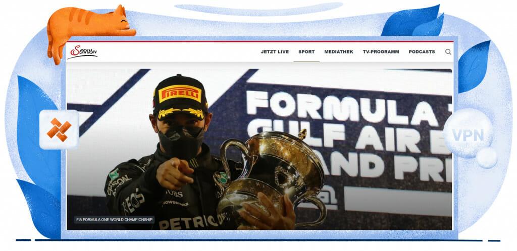 Formule 1-streaming op Oostenrijkse Servus TV
