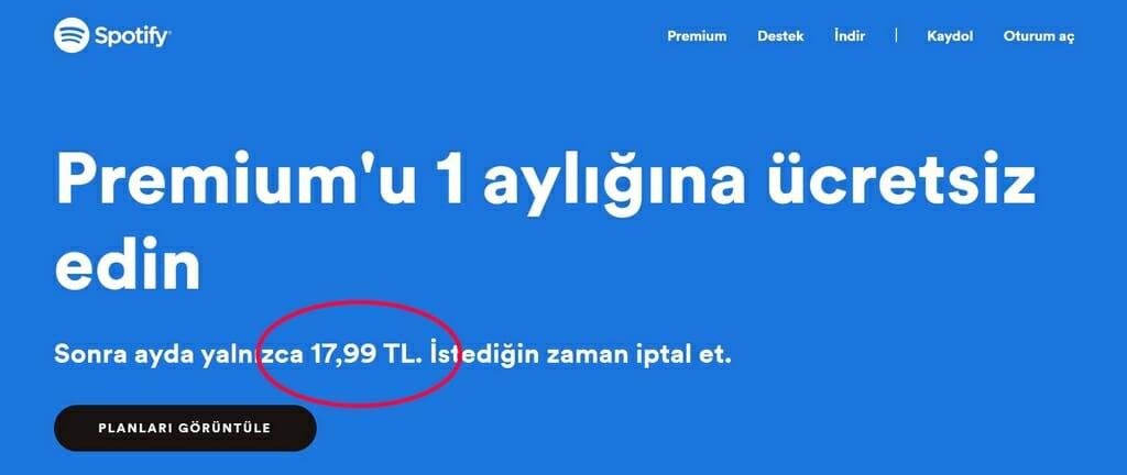 Günstigeres Premium Abo in der Türkei