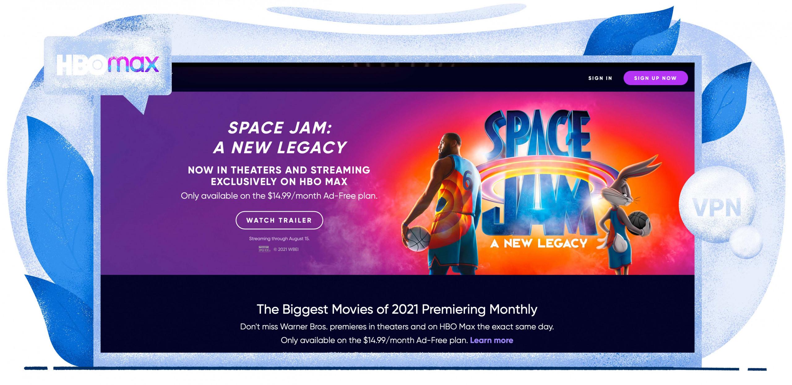 Ver Space Jam 2 en HBO Max con una VPN