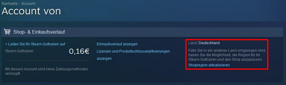 Steam Store Shopregion Aktualisiren