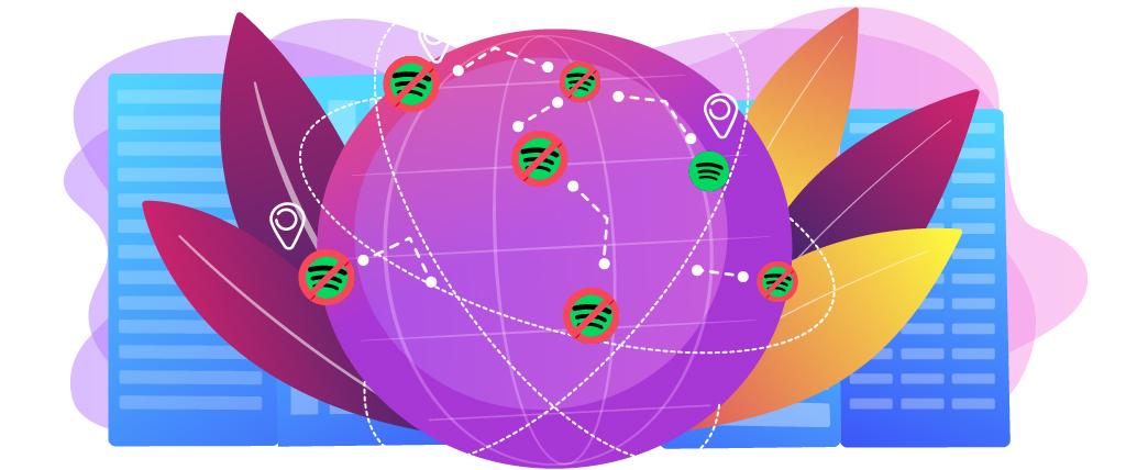Spotify, farklı kıtalar için coğrafi engelleme kullanıyor